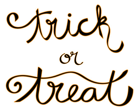 october 31: Trick or Treat Lettering