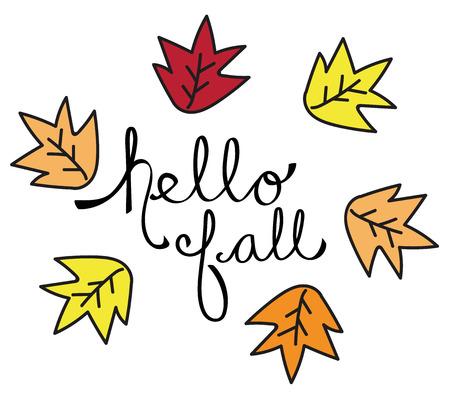 Hallo herfstbladeren