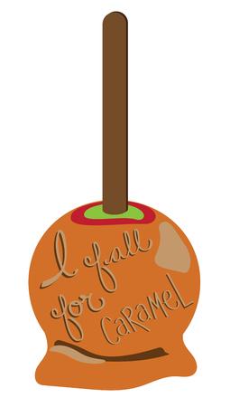 I Fall for Caramel Illustration