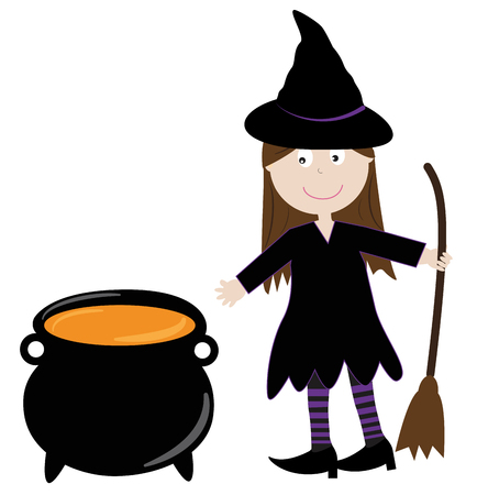 spells: Witch With Cauldron