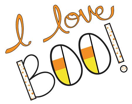 polkadot: I Love Boo Illustration