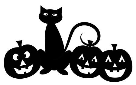 Halloween Cat Illustration