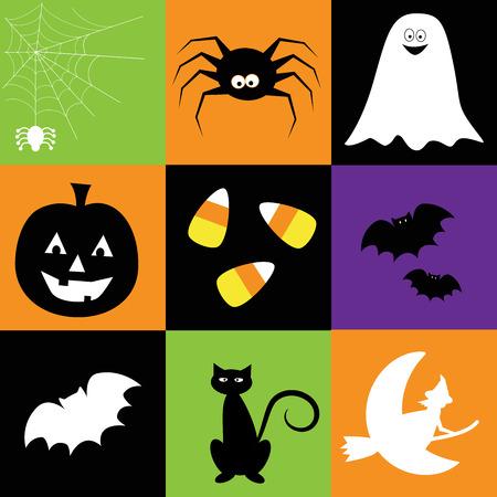 broomsticks: Happy Halloween Illustration