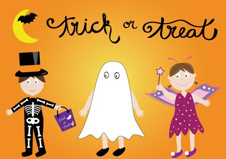 lute: Kids in Costume Illustration