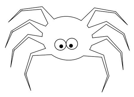 Araña Para Colorear
