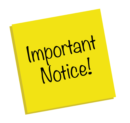 important: Important Notice Note
