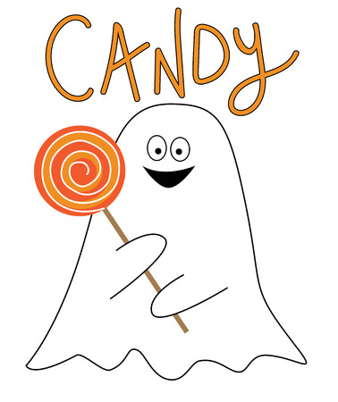 Candy Ghost Illustration