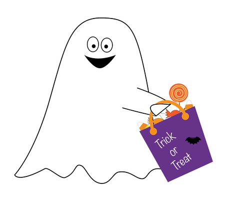 goodie: Trick or Treat Ghost Illustration
