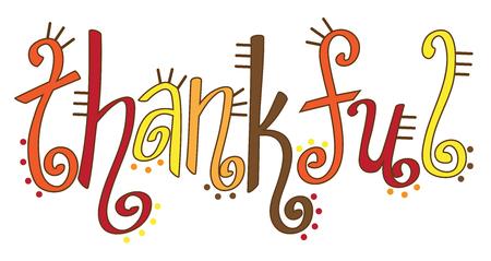 Thankful Lettering Illustration