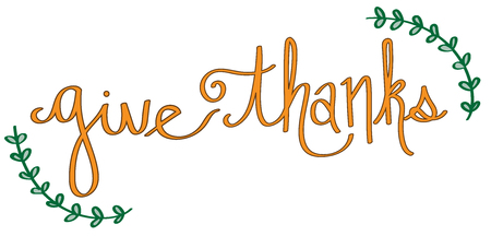 give: Give Thanks Illustration