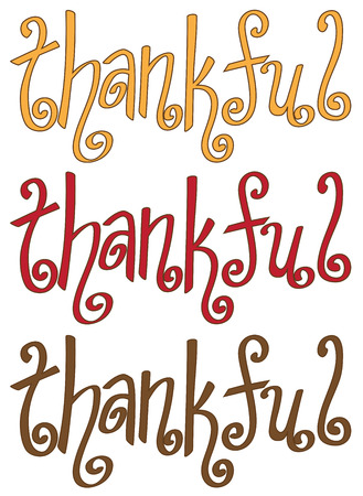thankful: Thankful Lettering Illustration