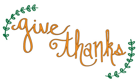 Give Thanks Illustration