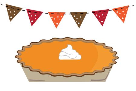 Thanksgiving Pumpkin Pie Banque d'images - 67586373