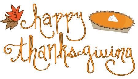 Joyeux Thanksgiving Pie Banque d'images - 67586381