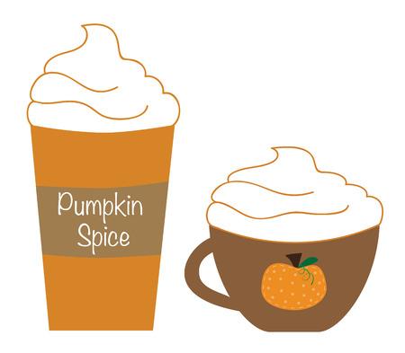 Pumpkin Coffee Ilustração