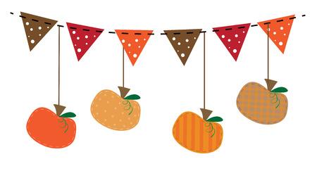 Fall Pumpkins Illustration