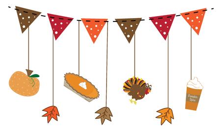 Icônes de Thanksgiving Banque d'images - 68480337