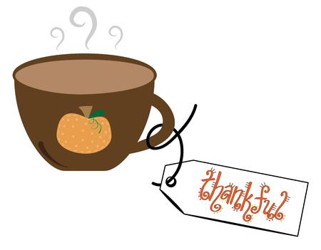 Thankful Coffee Vettoriali