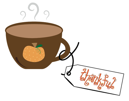 thankful: Thankful Coffee Illustration
