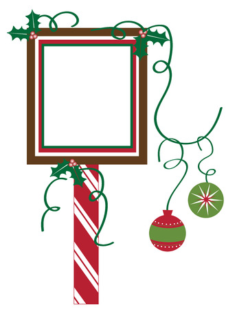 candy cane background: Christmas Sign
