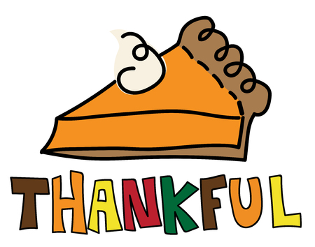 thankful: Thankful Pumpkin Pie Illustration