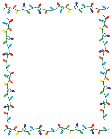 Christmas Lights Border