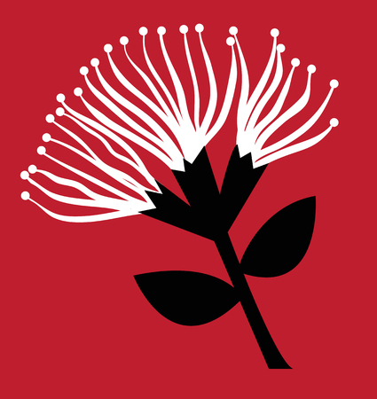 Pohutukawa Flower Ilustracja