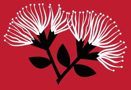 Pohutukawa bloemen