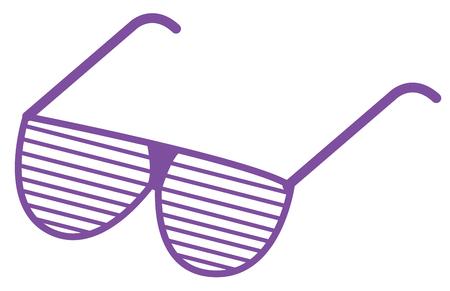 fashionable: 80s Glasses Illustration