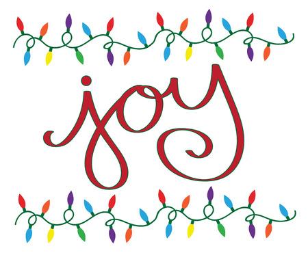 Joy Christmas Lights  イラスト・ベクター素材