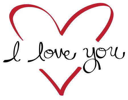 I Love You Heart Ilustração