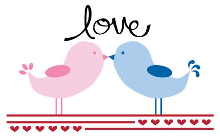 be happy: Valentines Birds