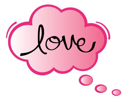 Love Speech Bubble Illustration