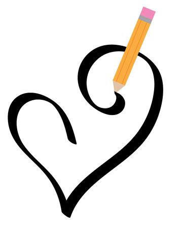 Black Heart Illustration