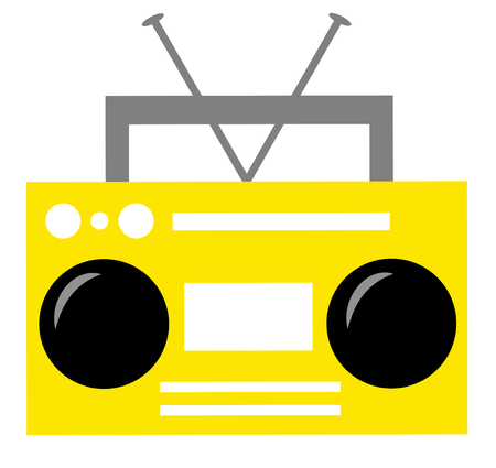Yellow Boombox Illustration