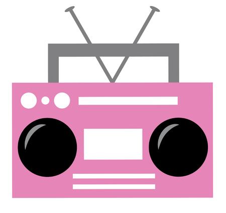 Pink Boombox Ilustração