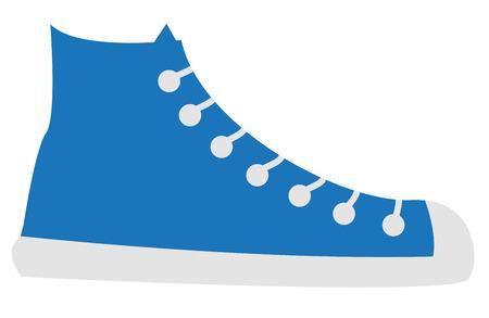 파란색 신발 일러스트