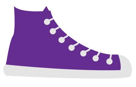 보라색 신발