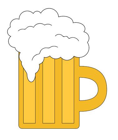 beer stein: A mug of cold beer. Illustration
