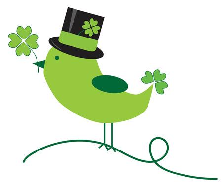 animal st  patricks day: Saint Patricks Day Bird
