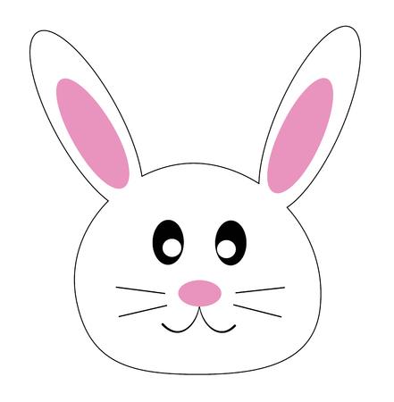 토끼 얼굴 일러스트