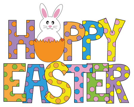 Buon coniglietto di Pasqua Archivio Fotografico - 75669410