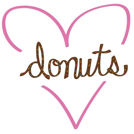 Donut Love 向量圖像