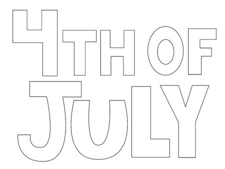 4 juli Kleurplaat