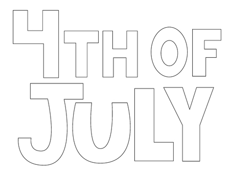 4th of July Coloring Page Иллюстрация