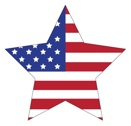 fallen: American Flag Star