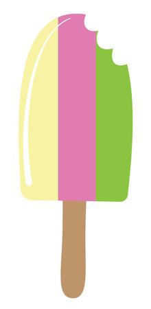 Ice Cream with bite vector Stock Illustratie