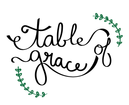 Table of Grace Sign vector