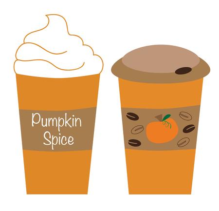 Pumpkin Spice latte vector Illustration