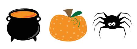 Happy Halloween Items vector set Illustration